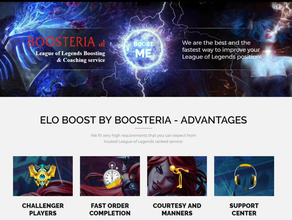 Boosteria official page
