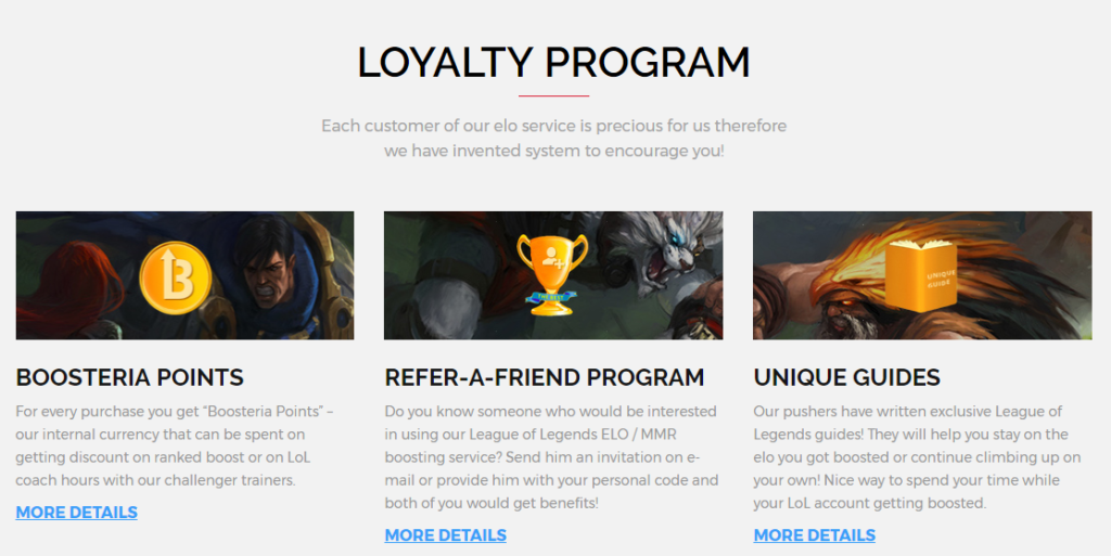 Boosteria loyalty program